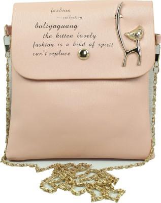 Hydes Girls, Women Pink Leatherette Sling Bag