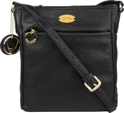 Hidesign Women Black Genuine Leather Sling Bag