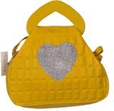 Naaz Bag Collection Women Yellow PU Slin...