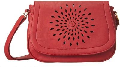 Cappuccino Girls Red PU Sling Bag