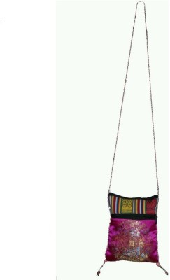 HR Handicrafts Men Multicolor Canvas Sling Bag