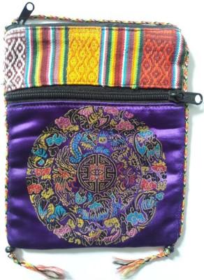 HR Handicrafts Girls Purple Canvas Sling Bag