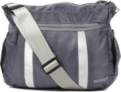 Novex Boys, Girls, Men, Women Grey Nylon Sling Bag