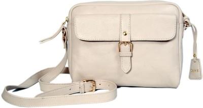 Taws Women Formal White Genuine Leather Sling Bag
