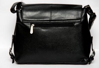 Borse Women Casual Black PU Sling Bag