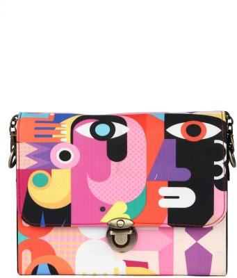 Zoe Makhoa Girls Multicolor Silk Sling Bag