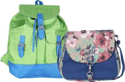 Vogue Tree Women Green Canvas Sling Bag