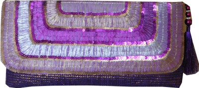 JTM Trading Girls, Women Blue Silk Sling Bag