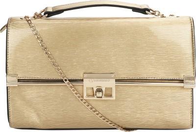 Liza Women Gold PU Sling Bag