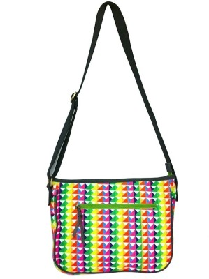 Carry on Bags Girls Casual Multicolor Canvas Sling Bag