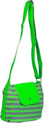 FabSeasons Women, Girls Casual Green Cotton Sling Bag
