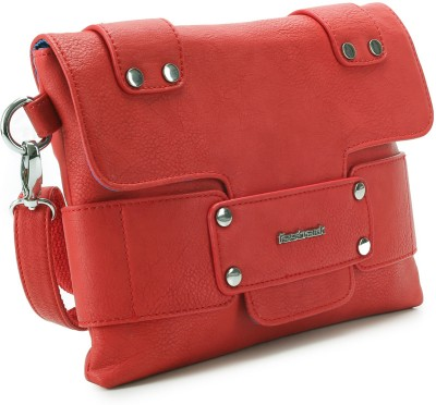Fastrack Women Casual Red PU Sling Bag