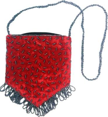 Gotewala Women Red Genuine Leather Sling Bag