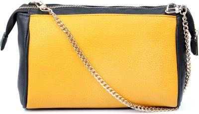 Cappuccino Girls Yellow PU Sling Bag