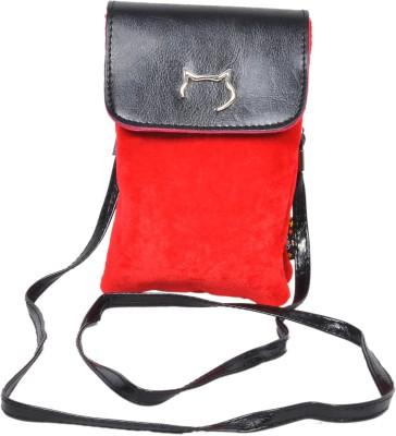 FabSeasons Women Casual Red Velvet Sling Bag