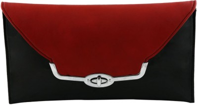 Kraasa Women Evening/Party Black, Red Silicon Sling Bag