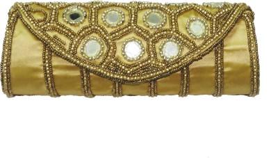 ShopperzGuide Girls, Women Gold Silk Sling Bag