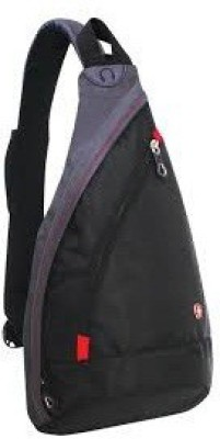 Swiss Gear Men, Women, Boys, Girls Black Nylon Sling Bag