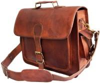 Crafat Men & Women Brown Genuine Leather Shoulder Bag
