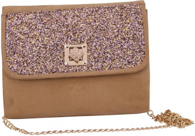 Vdesi Ethnic Women Casual, Evening/Party, Formal, Festive Beige, Gold, Multicolor Sling Bag