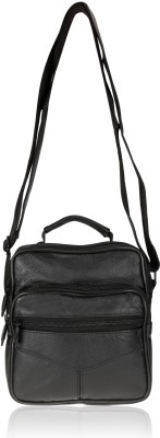 ANNI CREATIONS Men, Boys Casual, Formal, Sports Black Leatherette Sling Bag