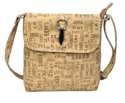 Hawai Women Casual Khaki PU Sling Bag