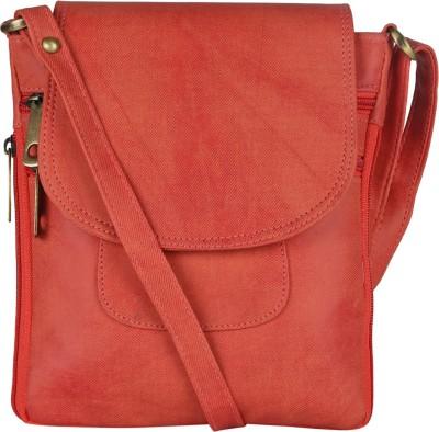 Coash Women Orange PU Sling Bag