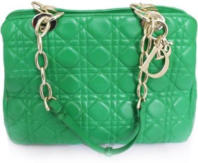 Zaira diamond Women Green Genuine Leather Shoulder Bag