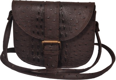 The Runner Girls Casual Brown Leatherette Sling Bag