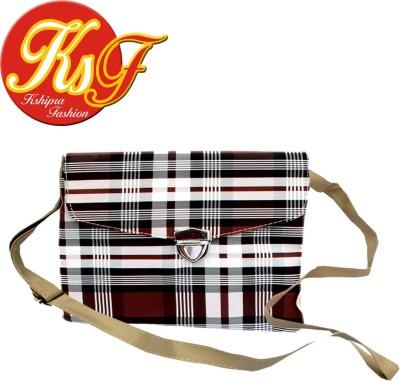 Kshipra Fashion Women, Girls Brown Rexine Sling Bag