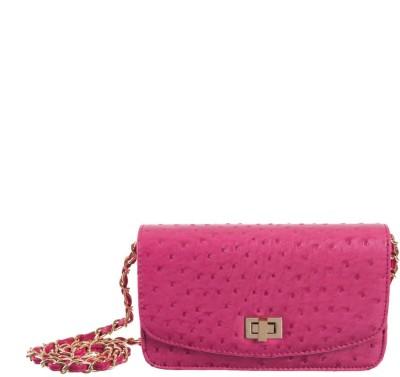 Peaubella Women, Girls Pink PU Sling Bag