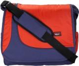 Comfy Men Blue, Orange Nylon Sling Bag