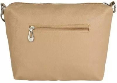 Kirli Girls, Women Beige Rexine Sling Bag