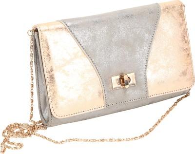 Mese Women Silver PU Sling Bag