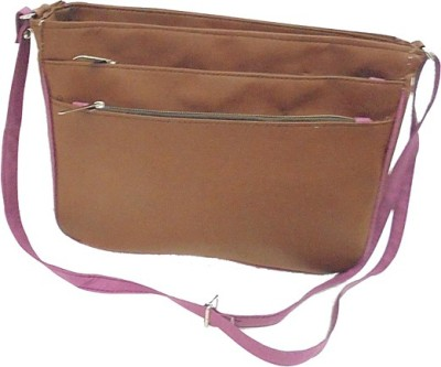 Ellye Girls Casual Brown Leatherette Sling Bag