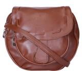 Skyways Women Brown Leatherette Sling Ba...