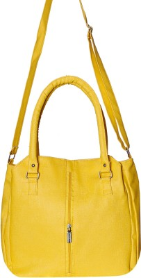 Divyanshi Collection Women Yellow Leatherette Shoulder Bag