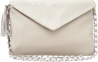Hi Look Women Casual Grey PU Sling Bag