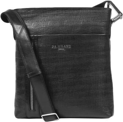 6beabc1db3a Buy Da Milano Men Black Genuine Leather Sling Bag at best price in India -  BagsCart