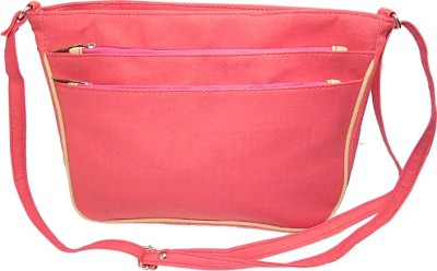 Ellye Girls Casual Pink Leatherette Sling Bag