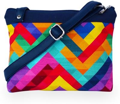 Lemon Trunk Girls, Women Multicolor Canvas, Leatherette Sling Bag