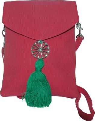 Arabian Nights Women Pink Leatherette Sling Bag