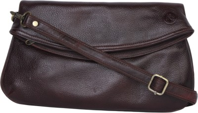 Incredible Range Women Brown Leatherette Sling Bag