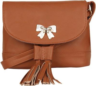 Berrypeckers Women Brown PU Sling Bag