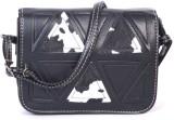 Frosty Fashion Women Black PU Sling Bag