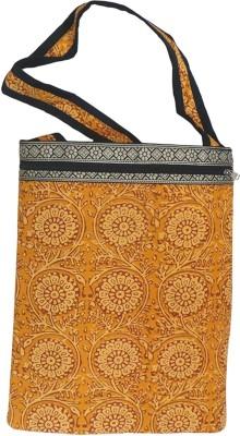 Bhamini Women Yellow Cotton Sling Bag