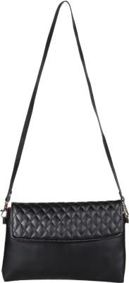 Anekaant Women Black PU Sling Bag
