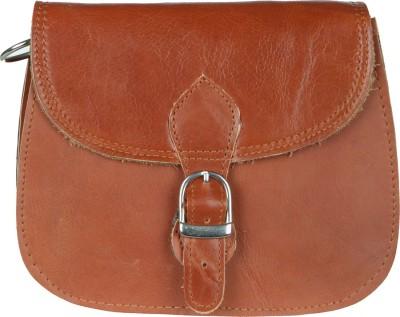 The Backbencher Women Brown Genuine Leather Sling Bag