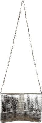 Impress Women Casual Silver PU Sling Bag