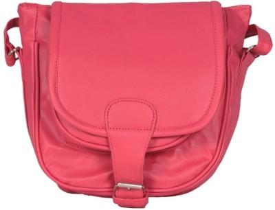 Goldeno Girls Pink PU Sling Bag
